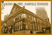 Nashville Tennessee Digital Art Metal Prints - Grand Ole Opry Nashville Tennessee Poster Metal Print by Peter Art Print Gallery  - Paintings Photos Posters