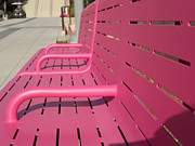 Park Benches Photos - Grand Park Pink by HEVi FineArt