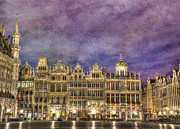 Famous Architecture Prints - Grand Place Print by Juli Scalzi