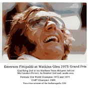 Indy Car Prints - Grand Prix Champion Emerson Fittipaldi Print by Don Struke