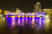 Grand Rapids Posters - Grand Rapids at Night Poster by Twenty Two North Photography