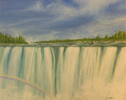 Waterfalls Paintings - Grand Rapids by Huy Lee