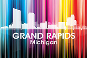 Iconic Design Mixed Media Prints - Grand Rapids MI 2 Print by Angelina Vick