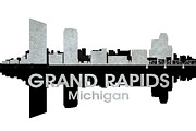 Urban Plan Mixed Media - Grand Rapids MI 4 by Angelina Vick