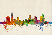 States Prints - Grand Rapids Michigan Skyline Print by Michael Tompsett