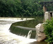 Gail Matthews - Grand River Falls and Train Bridge