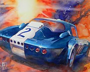 Automobilia Paintings - Grand Sport by Robert Hooper