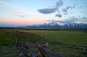 Clouds Photographs Posters - Grand Tetons Before Sunrise Poster by Brian Harig