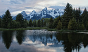 Grand Tetons Reflection Print by Jack Nevitt
