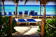 Carol Toepke Prints - Grand Turk - US Virgin Island - Beach View Print by Carol Toepke