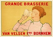 Poster  Prints - Grande Brasserie Print by Sanely Great