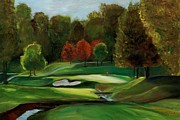 Golf Ball Painting Originals - Grandeur of the Green by Claudia Herrick