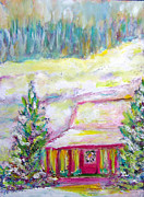 Mountain Cabin Posters - Grandfather Mountain Christmas Poster by Patricia Taylor