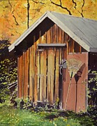 Shed Painting Prints - Grandfathers Rake Print by Thomas Stratton
