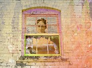 Distressed Mixed Media - Grandma at the Window by Desiree Paquette