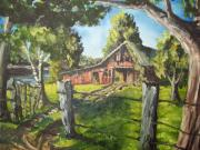 Old Barns Paintings - Grandma by Chris Shepherd