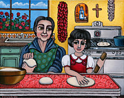 Chile Paintings - Grandma Kate by Victoria De Almeida
