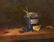 Purple Paintings - Grandmas Blueberry Jam by Jeff Brimley