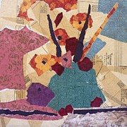 Sewing Mixed Media - Grandmas Flowers by Micheal Jones
