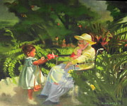 Handicapped Paintings - Grandmas Garden by Marilyn Weisberg