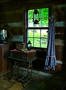 Cabin Interior Framed Prints - Grandmas Things Framed Print by Julie Dant
