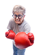 Strict Framed Prints - Grandmother Boxing Framed Print by Joe Belanger