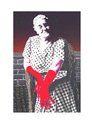 Gloves Drawings - Grandmother by Kenneth Stockton