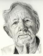 Human Drawings - Grandpa Full of Grace Drawing by Susan A Becker