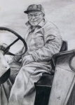Maine Drawings Posters - Grandpa Poster by Joy Nichols