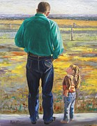 Stranger Paintings - Grandpa knows everything by Ron Aucutt