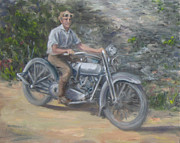 1920s Originals - Grandpas Harley by Connie Schaertl