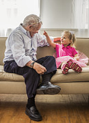 Dress Up Posters - Grandpas Little Princess Poster by Diane Diederich