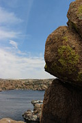Watson Lake Photos - Granite Dells lichen by Robert W Smith