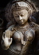 Hindu Goddess Photo Posters - Granite Indian Goddess Poster by Tim Gainey