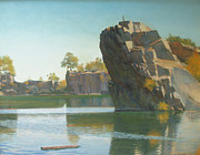 Quarry Paintings - Granite Rail Quarry by Dianne Panarelli Miller