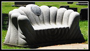 Couches Prints - Granite Sofa at Forest Lawn Cemetery Print by Rose Santuci-Sofranko