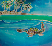 Sea Turtle Tapestries - Textiles Posters - Granito de Oro Poster by Kelly     ZumBerge