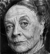 Duchess Drawings Posters - Grannies 12#05. Maggie Smith Poster by Arual Jay