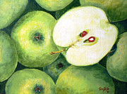 Fruit Stand Paintings - Grannies by Terry Taylor