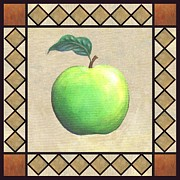 Food Paintings - Granny Smith Apple by Linda Mears