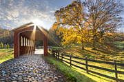 Tennessee Barn Prints - Granny Squirrel Bridge Print by Debra and Dave Vanderlaan