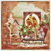 Frost Mixed Media - Grannys Christmas by Mo T
