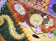 Quilt Art Photos - Grannys Crazy Quilt by Paula Talbert