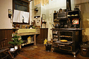 Antique Wood Burning Stove Prints - Grannys Kitchen Print by Marilyn Wilson