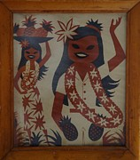 Grass Skirts Posters - Granpas Hula Girls Poster by Rob Hans