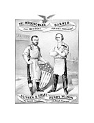 Featured Framed Prints - Grant And Wilson 1872 Election Poster  Framed Print by War Is Hell Store