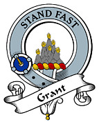 Genealogy Prints - Grant Clan Badge Print by Heraldry