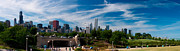 Sky Line Prints - Grant Park Chicago Panoramic Print by Adam Romanowicz