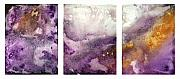 Gold Color Paintings - GRAPE IMPRESSIONS Original MADART Painting by Megan Duncanson
