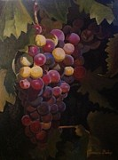 Oils Pastels - Grape Rhapsody by Evonne Bishop